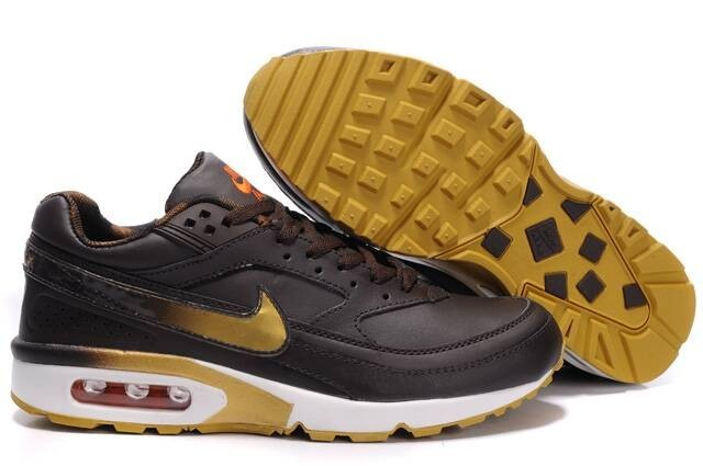 promo code 74099 a49f5 Marron d Or Air Max BW Nike Chaussures Running Sport Hommes
