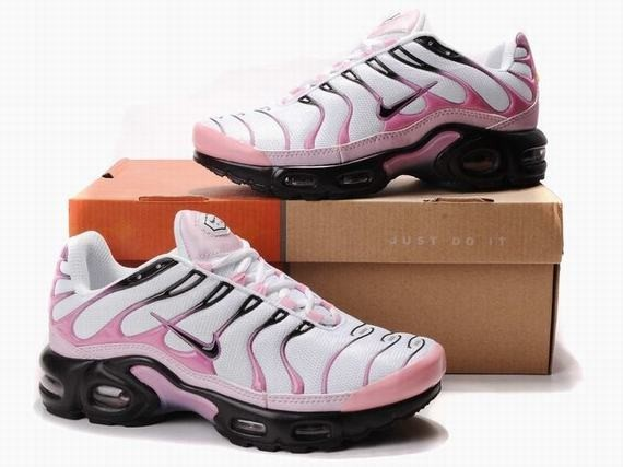 0a6141d2efc9 Blanc Rose Noir Nike Air Max TN Mode Chaussures Running Training Femmes