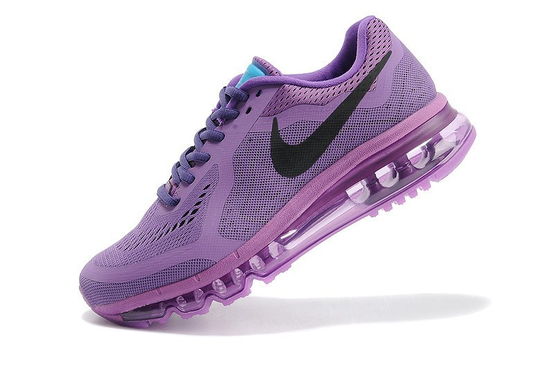 Nike Femmes Air Max 2014 Violet Rouge Chaussures Running