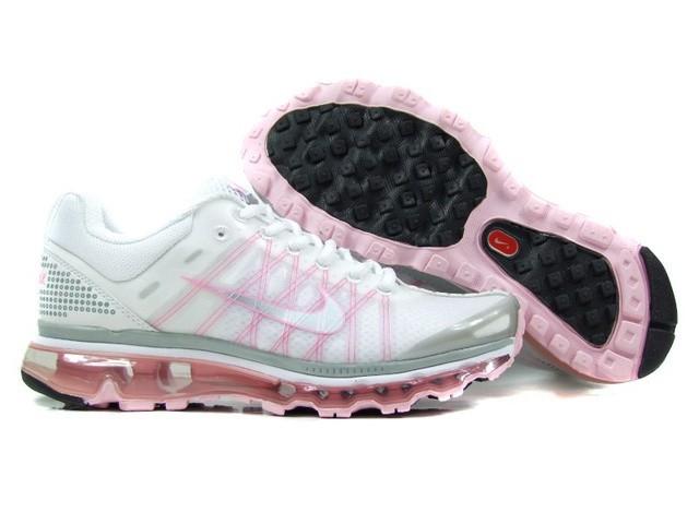 big sale 22e3b f4728 pas cher femmes nike air max 2009 trainers blanc rose
