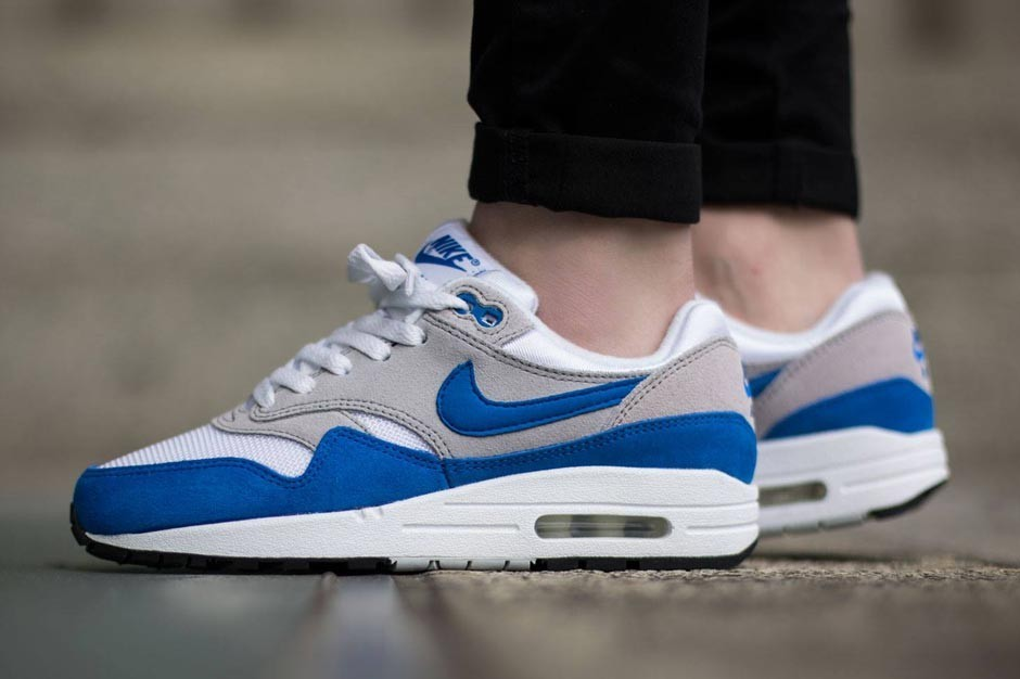 nike air max 1 og colorways gs blanc et bleu,Nike Air Max 1 ...